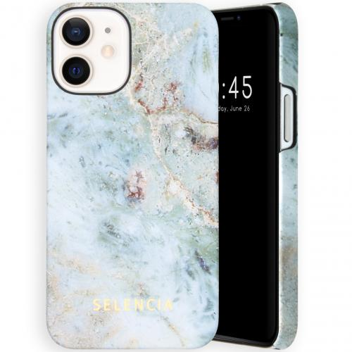 Maya Fashion Backcover voor de iPhone 12 Mini - Marble Blue