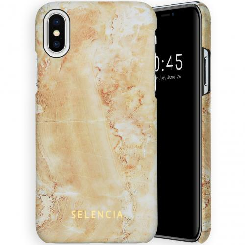 Maya Fashion Backcover voor de iPhone Xs / X - Marble Sand