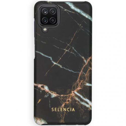 Maya Fashion Backcover voor de Samsung Galaxy A12 - Marble Black