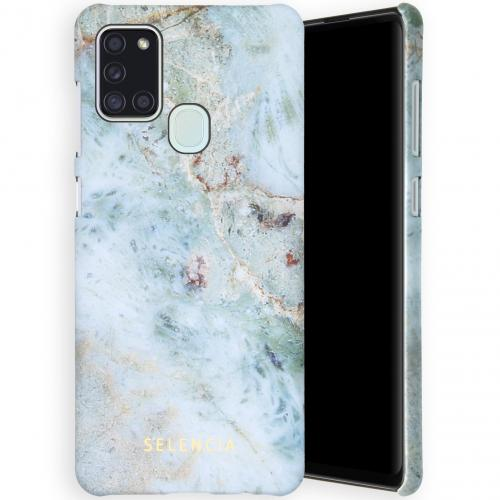 Maya Fashion Backcover voor de Samsung Galaxy A21s - Marble Blue