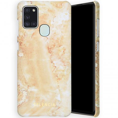 Maya Fashion Backcover voor de Samsung Galaxy A21s - Marble Sand