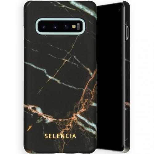 Maya Fashion Backcover voor de Samsung Galaxy S10 - Marble Black