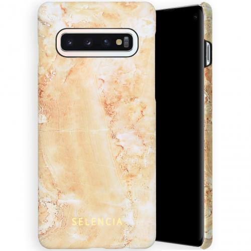 Maya Fashion Backcover voor de Samsung Galaxy S10 - Marble Sand