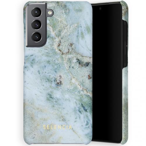 Maya Fashion Backcover voor de Samsung Galaxy S21 - Marble Blue