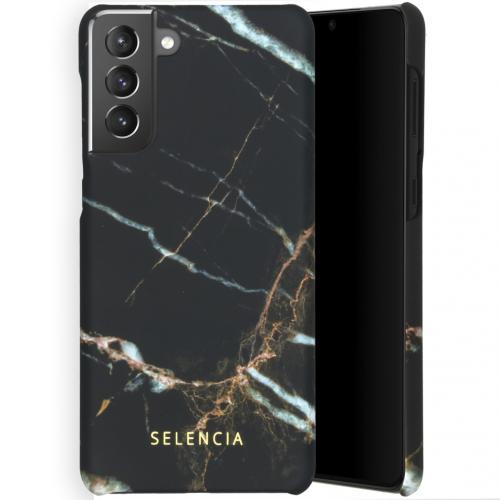 Maya Fashion Backcover voor de Samsung Galaxy S21 Plus - Marble Black