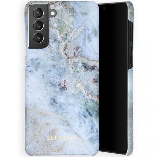 Maya Fashion Backcover voor de Samsung Galaxy S21 Plus - Marble Blue
