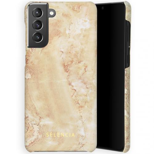 Maya Fashion Backcover voor de Samsung Galaxy S21 Plus - Marble Sand