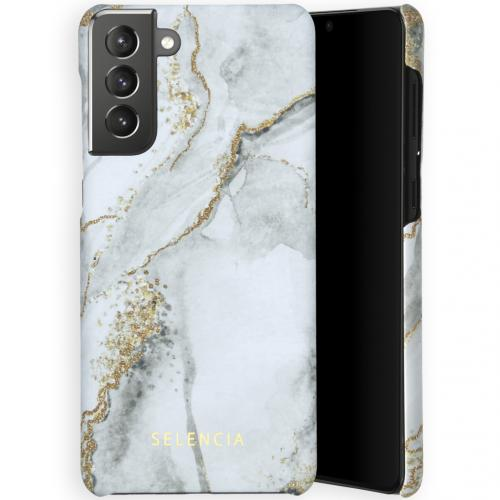 Maya Fashion Backcover voor de Samsung Galaxy S21 Plus - Marble Stone