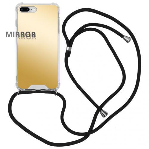 Mirror Backcover met koord voor de iPhone 8 Plus / 7 Plus - Goud
