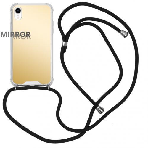 Mirror Backcover met koord voor de iPhone Xr - Goud