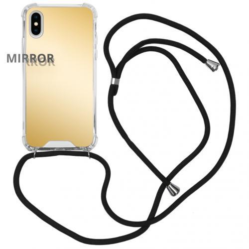 Mirror Backcover met koord voor de iPhone Xs / X - Goud