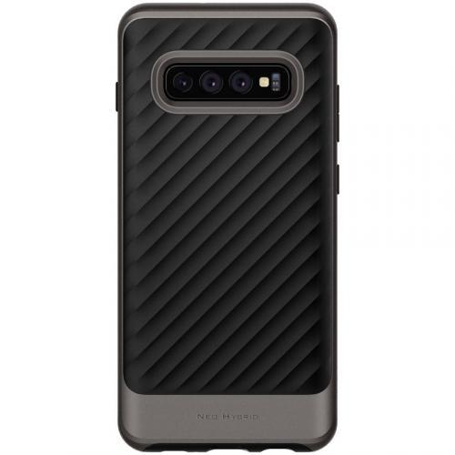 Neo Hybrid Backcover voor Samsung Galaxy S10 Plus - Grijs