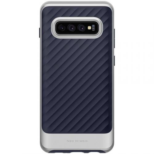 Neo Hybrid Backcover voor Samsung Galaxy S10 Plus - Zilver