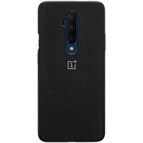 Nylon Backcover voor de OnePlus 7T Pro - Zwart