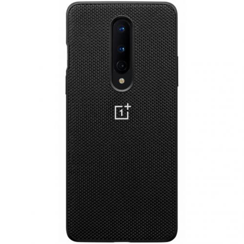 Nylon Backcover voor de OnePlus 8 - Zwart