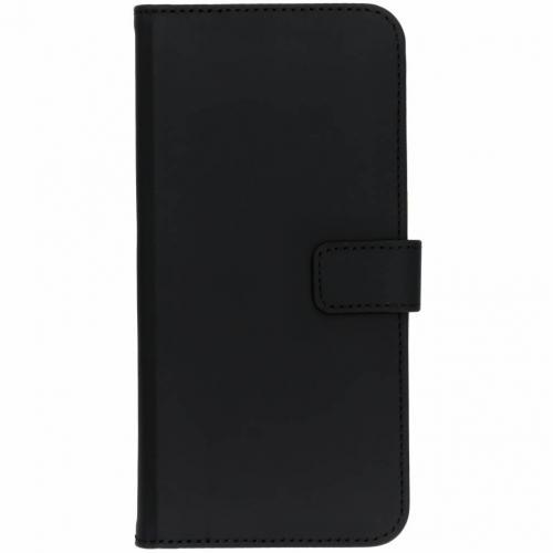OnePlus 6T hoesje Zwart  - Luxe TPU Book Case