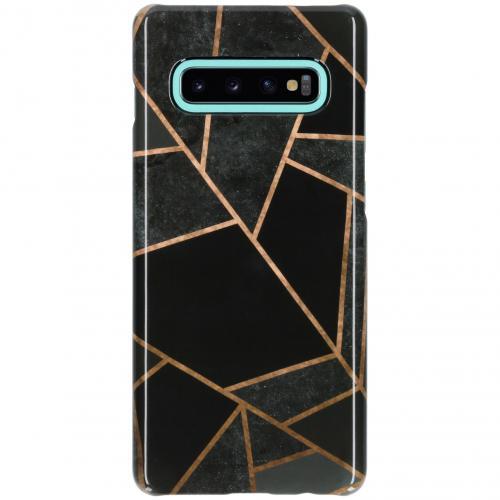 Passion Backcover voor Samsung Galaxy S10 Plus - Grafisch Zwart / Koper