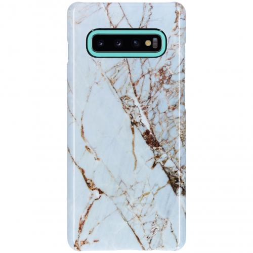 Passion Backcover voor Samsung Galaxy S10 Plus - Marmer Wit