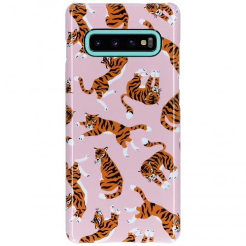 Passion Backcover voor Samsung Galaxy S10 Plus - Roze Tijger