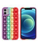 Pop It Fidget Toy - Pop It hoesje voor de iPhone 11 - Rainbow