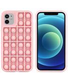 Pop It Fidget Toy - Pop It hoesje voor de iPhone 12 (Pro) - Roze