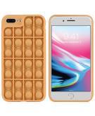 Pop It Fidget Toy - Pop It hoesje voor de iPhone 8 Plus / 7 Plus - Goud