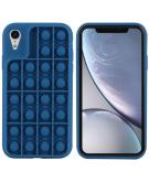 Pop It Fidget Toy - Pop It hoesje voor de iPhone Xr - Donkerblauw