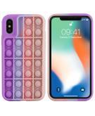 Pop It Fidget Toy - Pop It hoesje voor de iPhone Xs / X - Multicolor