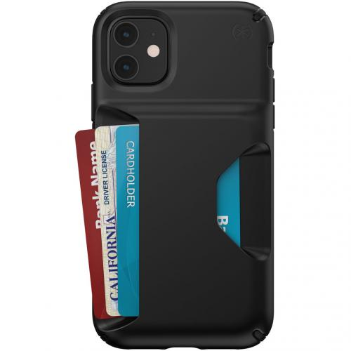 Presidio Wallet Backcover voor de iPhone 11 - Zwart