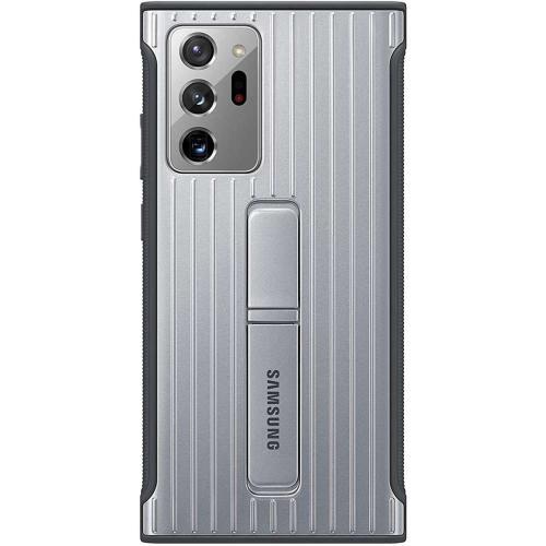 Protective Standing Backcover voor de Galaxy Note 20 Ultra - Zilver
