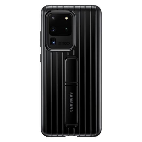 Protective Standing Backcover voor de Galaxy S20 Ultra - Zwart