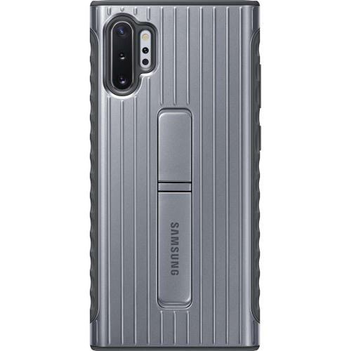 Protective Standing Backcover voor de Samsung Galaxy Note 10 Plus - Zilver
