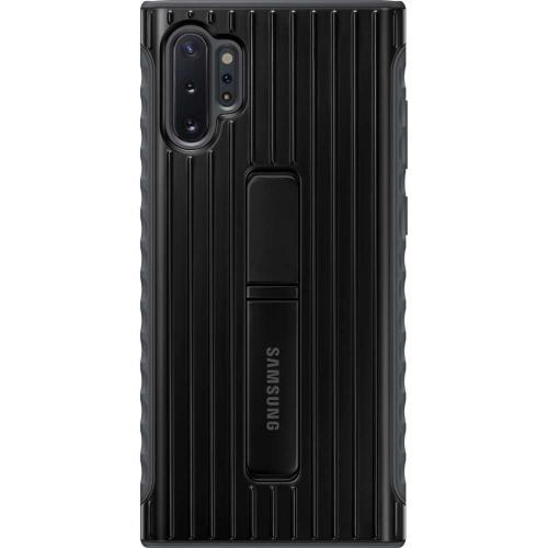 Protective Standing Backcover voor de Samsung Galaxy Note 10 Plus - Zwart