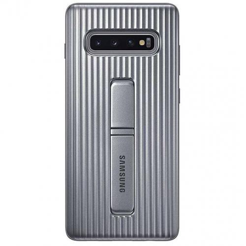 Protective Standing Backcover voor Samsung Galaxy S10 Plus - Zilver