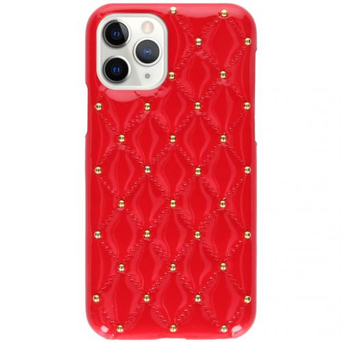 Quilted Hardcase Backcover voor de iPhone 11 Pro - Rood