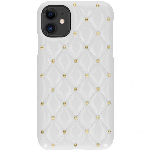 Quilted Hardcase Backcover voor de iPhone 11 - Wit