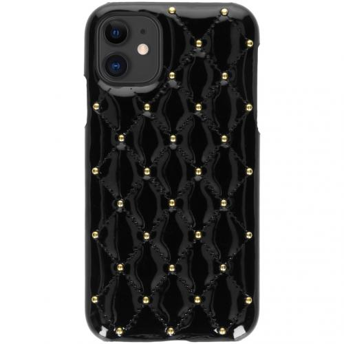 Quilted Hardcase Backcover voor de iPhone 11 - Zwart