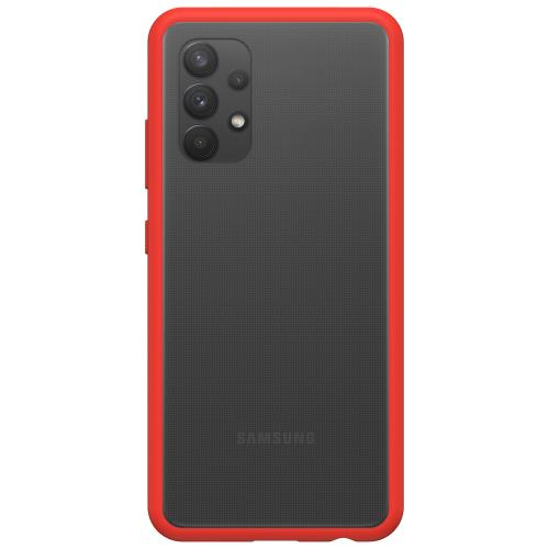 React Backcover voor de Samsung Galaxy A32 (4G) - Transparant / Rood