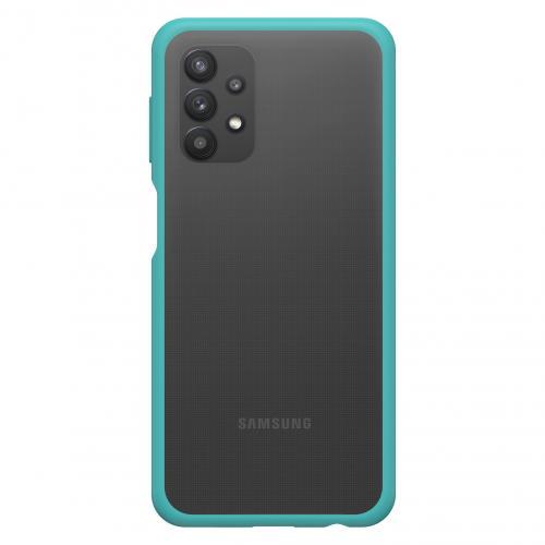 React Backcover voor de Samsung Galaxy A32 (5G) - Transparant / Blauw
