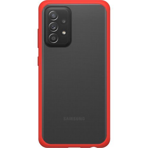 React Backcover voor de Samsung Galaxy A52 (5G) / A52 (4G) - Transparant / Rood