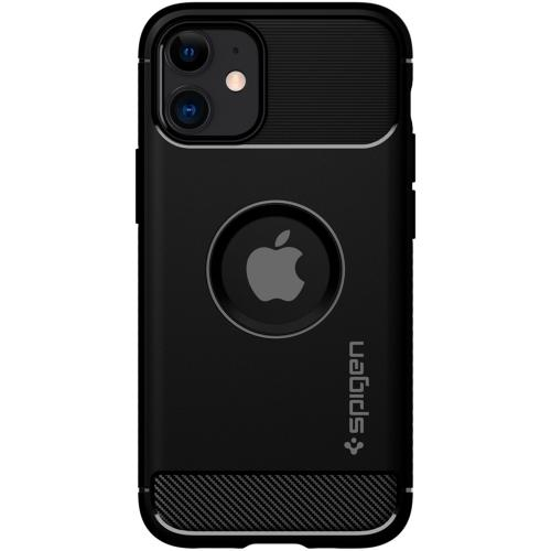 Rugged Armor Backcover voor de iPhone 12 Mini - Zwart