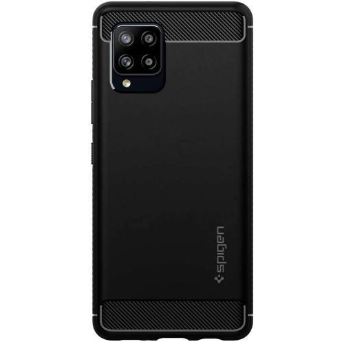 Rugged Armor Backcover voor de Samsung Galaxy A42 - Zwart