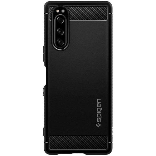 Rugged Armor Backcover voor de Sony Xperia 5 II - Zwart