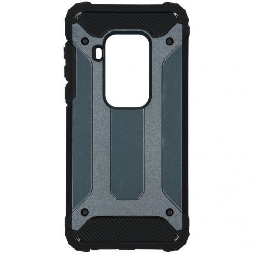 Rugged Xtreme Backcover Motorola One Zoom - Donkerblauw