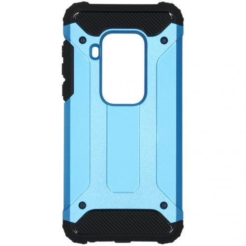 Rugged Xtreme Backcover Motorola One Zoom - Lichtblauw