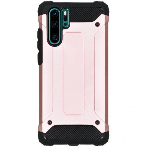 Rugged Xtreme Backcover voor de Huawei P30 Pro - Rosé Goud