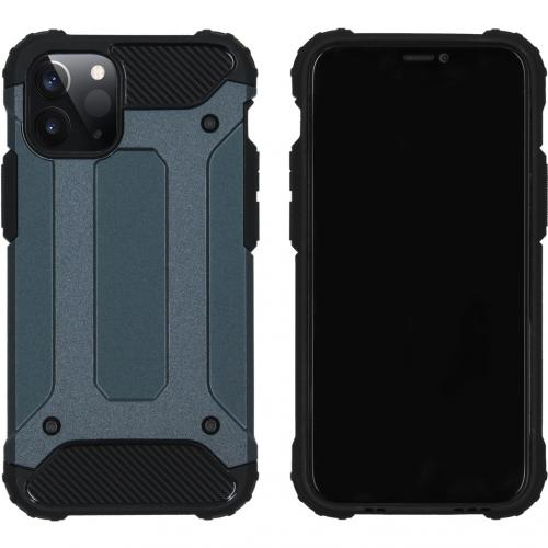Rugged Xtreme Backcover voor de iPhone 12 5.4 inch - Donkerblauw