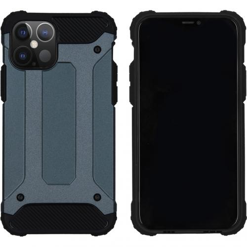Rugged Xtreme Backcover voor de iPhone 12 6.1 inch - Donkerblauw