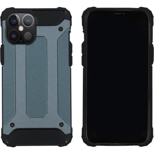 Rugged Xtreme Backcover voor de iPhone 12 6.7 inch - Donkerblauw