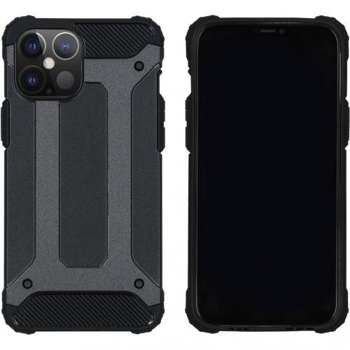 Rugged Xtreme Backcover voor de iPhone 12 6.7 inch - Zwart
